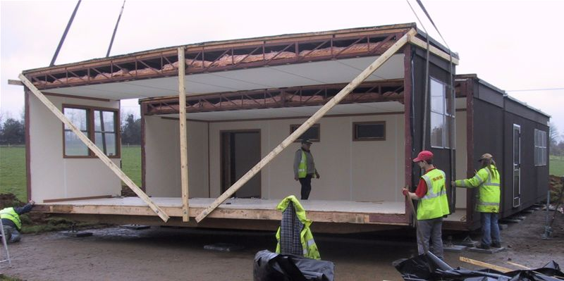 Delivery and Installation of a modular classroom