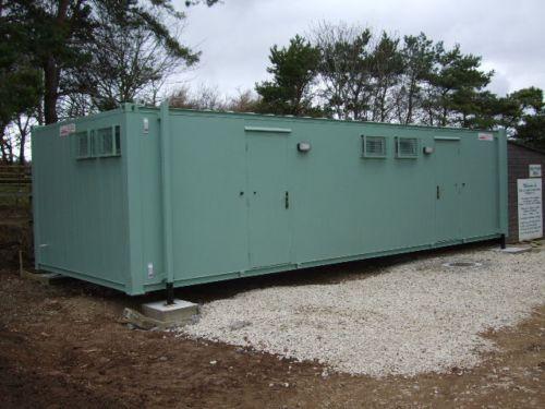 Ironclad portable toilet and shower unit
